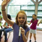 Girl Scouts Play Music at Summer Camp